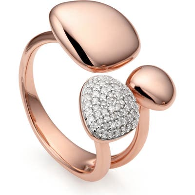 Monica Vinader Nura Pebble Cluster Diamond Ring
