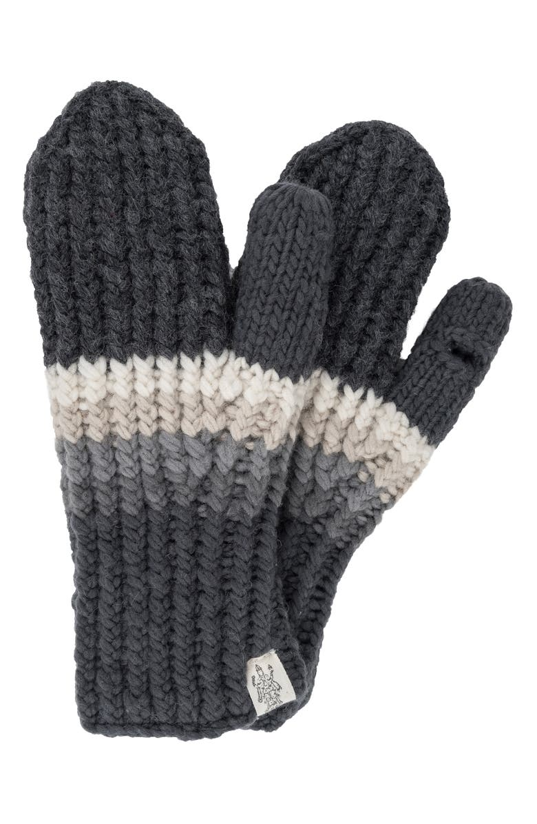 NIRVANNA DESIGNS Hi Fidelity Mittens, Main, color, CHARCOAL