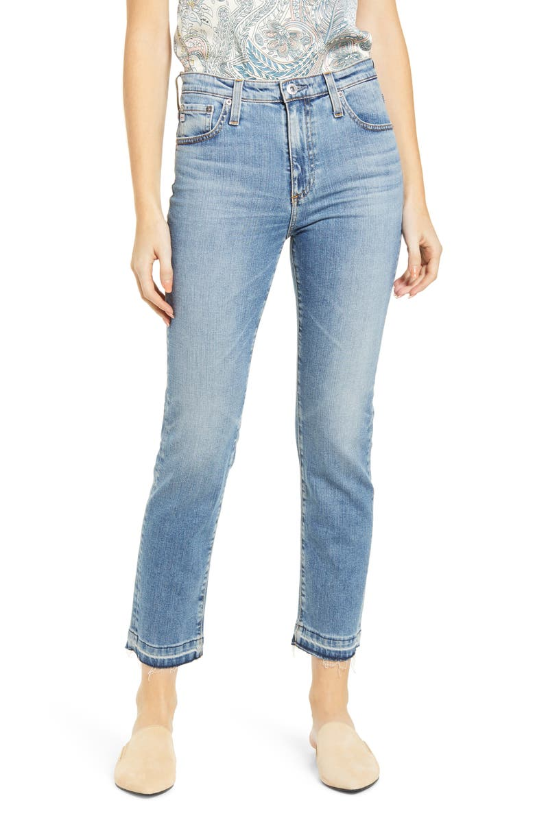 AG The Isabelle  Ankle Straight Leg Jeans, Main, color, 20 YEARS RECOVERY