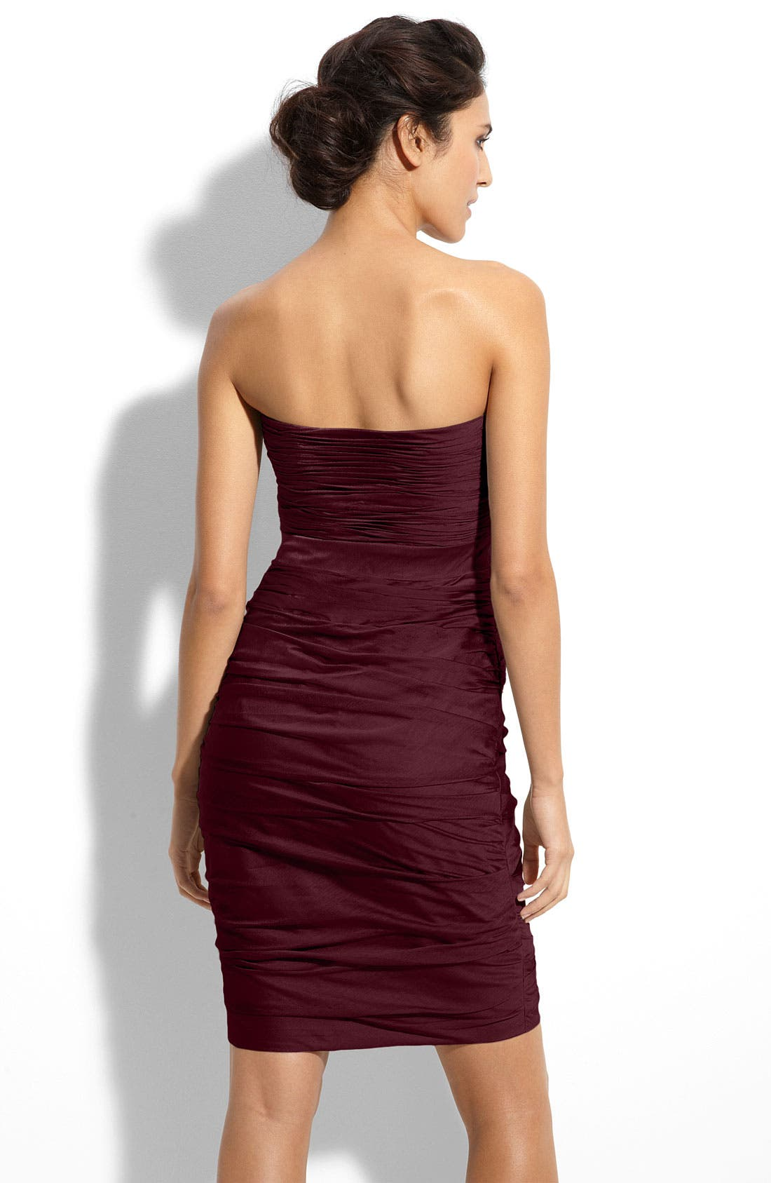 ,                             Ruched Strapless Cationic Chiffon Dress,                             Alternate thumbnail 55, color,                             505
