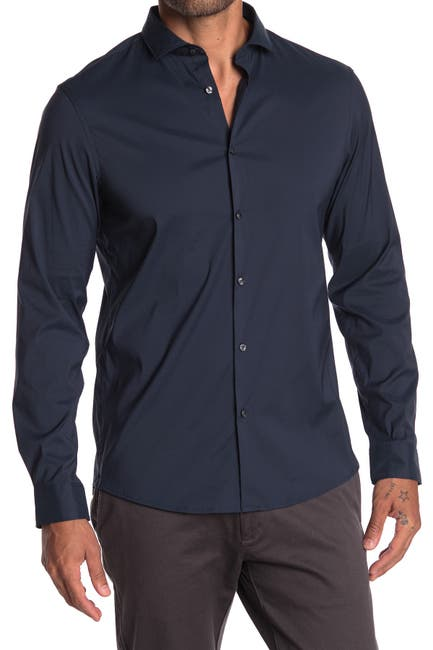 Image of Michael Kors Slim Fit Stretch Shirt