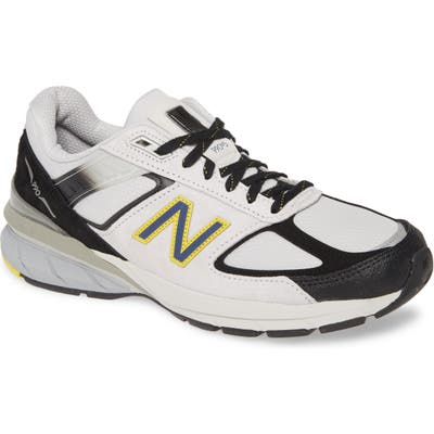 New Balance 990V5 Made In Us Running Shoe, White