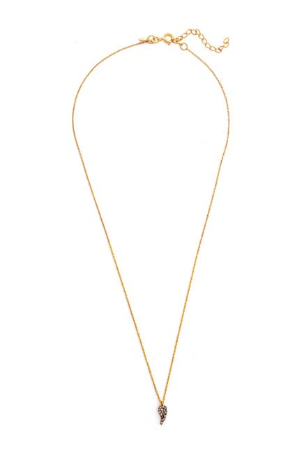 Image of Rivka Friedman 18K Gold Clad Sterling Silver with Black Rhodium Petite White Topaz Pendant Necklace