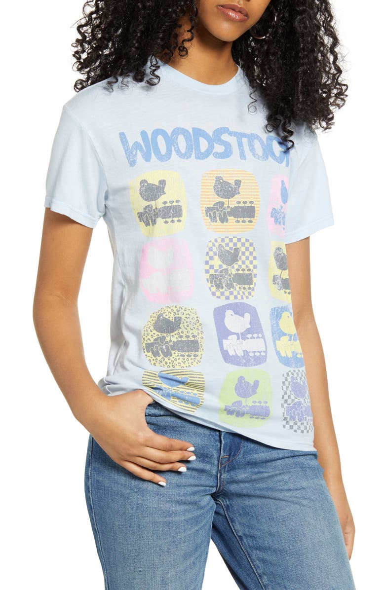 VINYL ICONS Woodstock Graphic Tee, Main, color, BLUE WOODSTOCK
