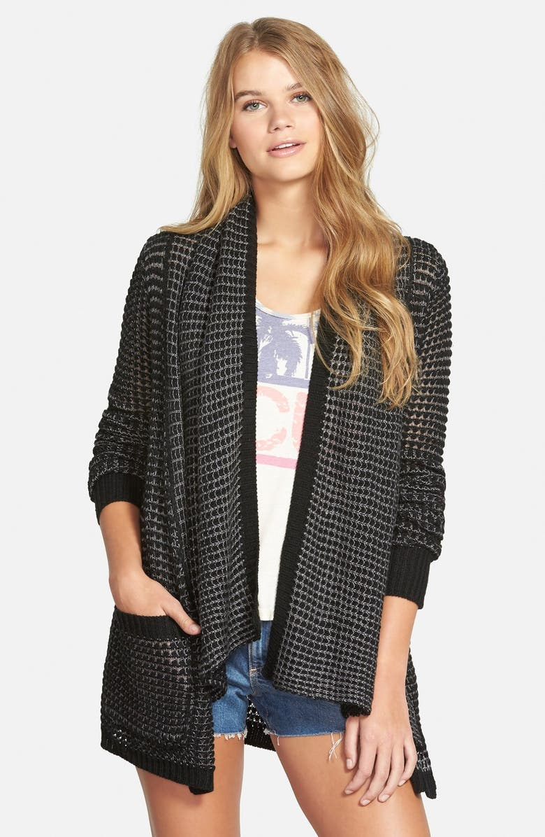 RIP CURL 'Shambala' Open Front Cardigan, Main, color, 001