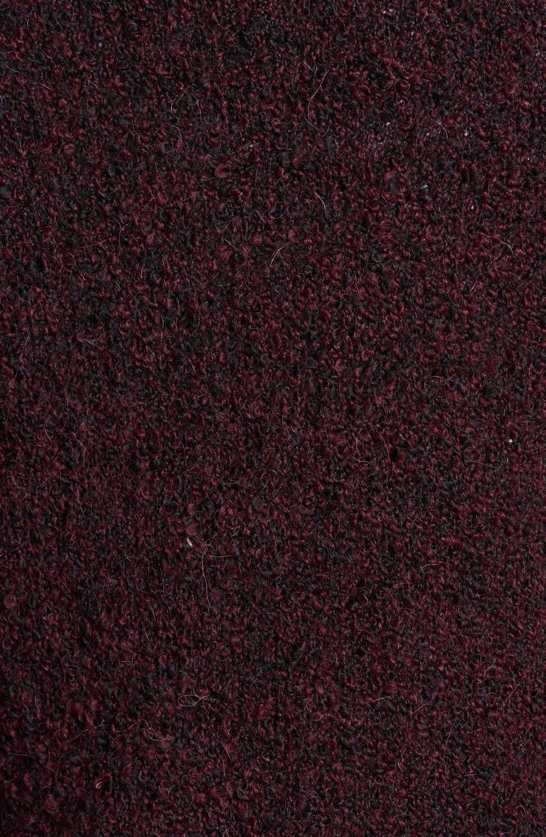 ,                             Long Bouclé Open Cardigan,                             Alternate thumbnail 6, color,                             002