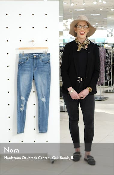 Ellie Ripped High Waist Skinny Jeans, sales video thumbnail