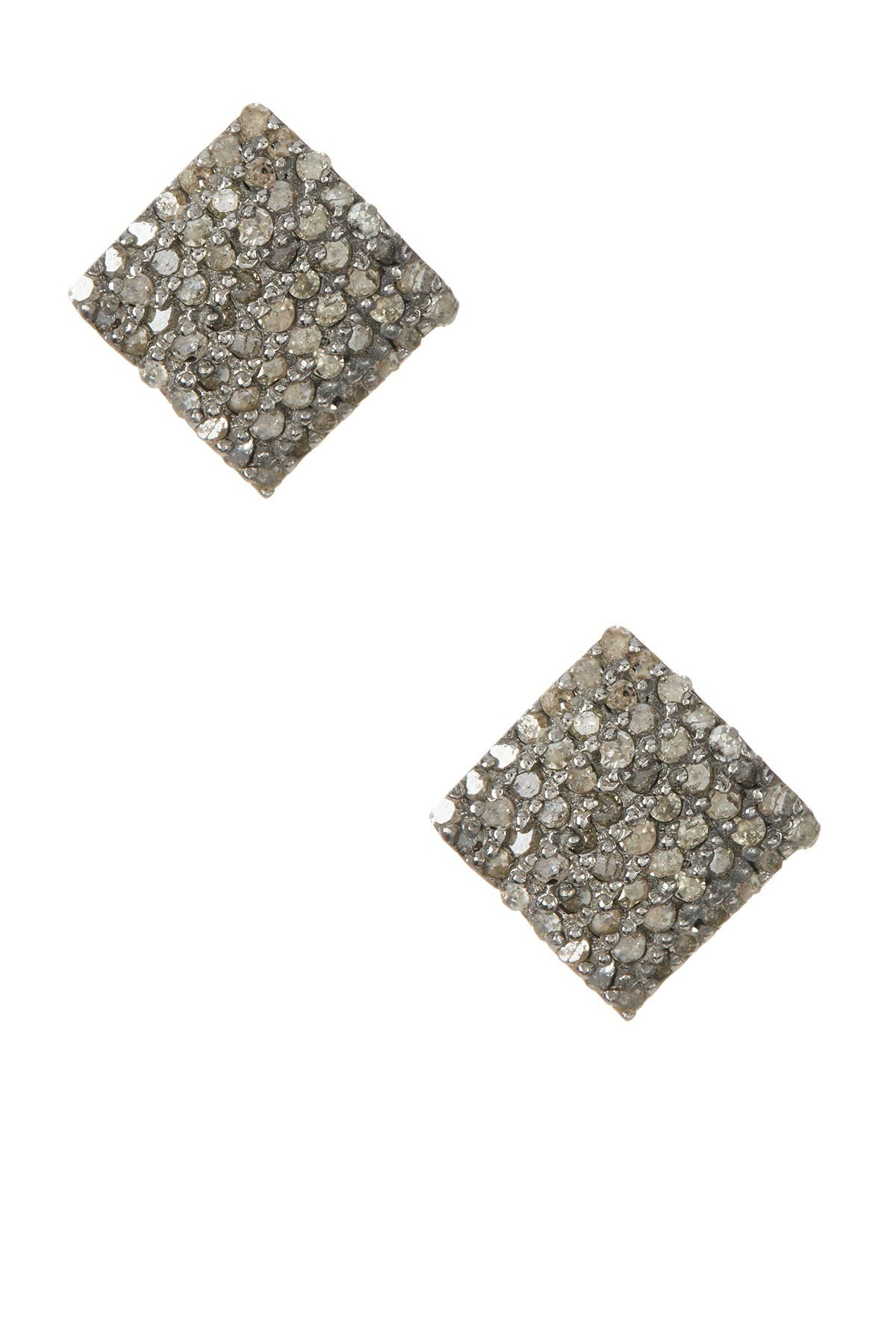 Image of ADORNIA Ethel Champagne Diamond Stud Earrings - 0.90 ctw
