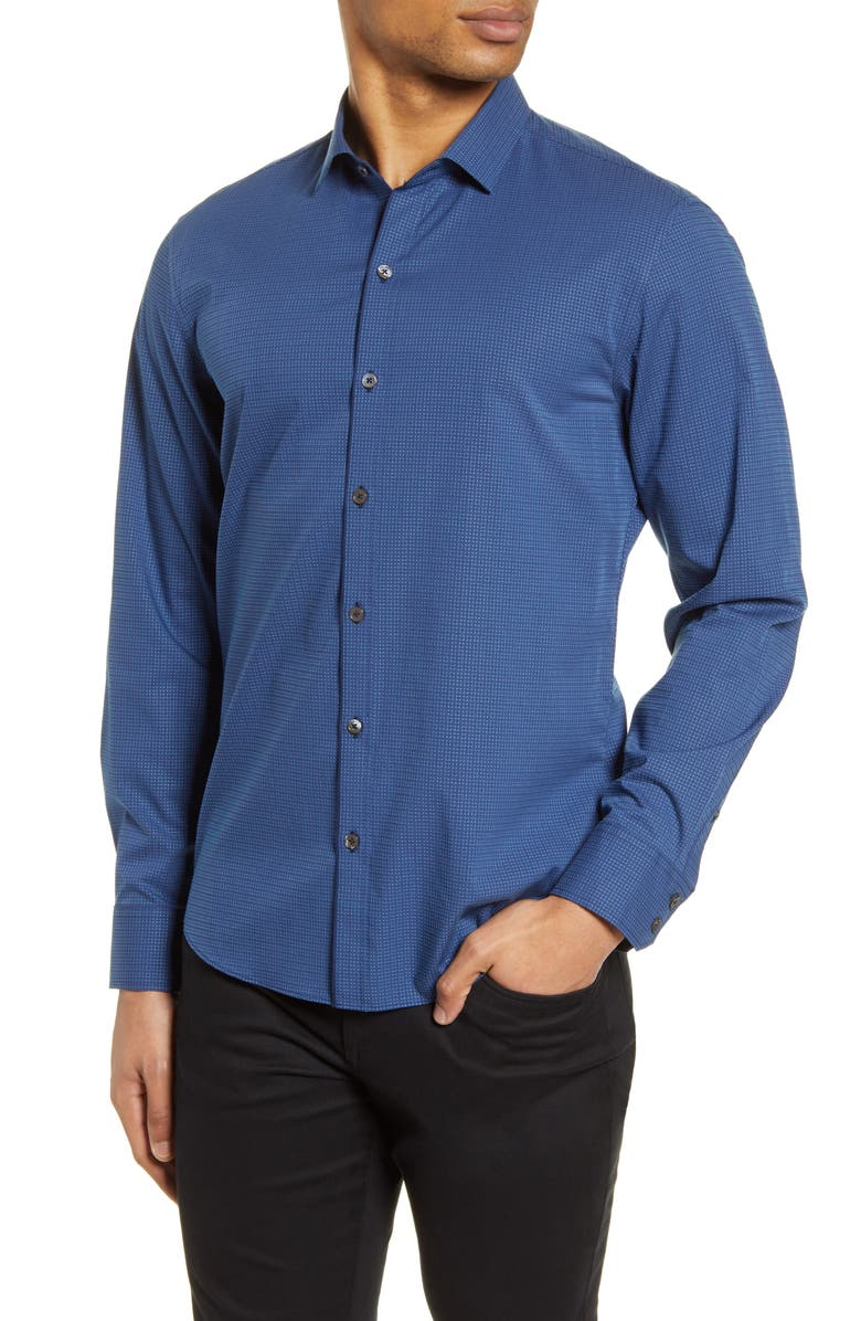 ZACHARY PRELL Takeda Classic Fit Button-Up Shirt, Main, color, TEAL