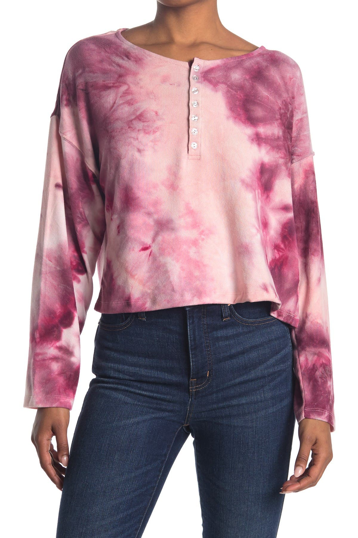Image of ROW A Long Sleeve Tie Dye Top