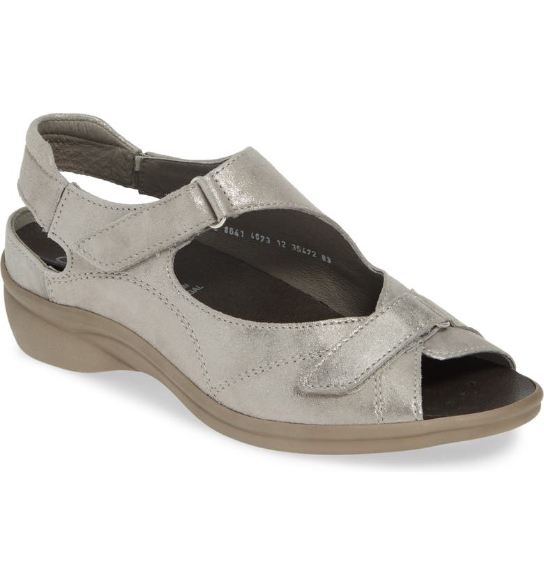 ARA Maya Two-Strap Sandal, Main, color, SASSO GLAMOUR PATENT LEATHER