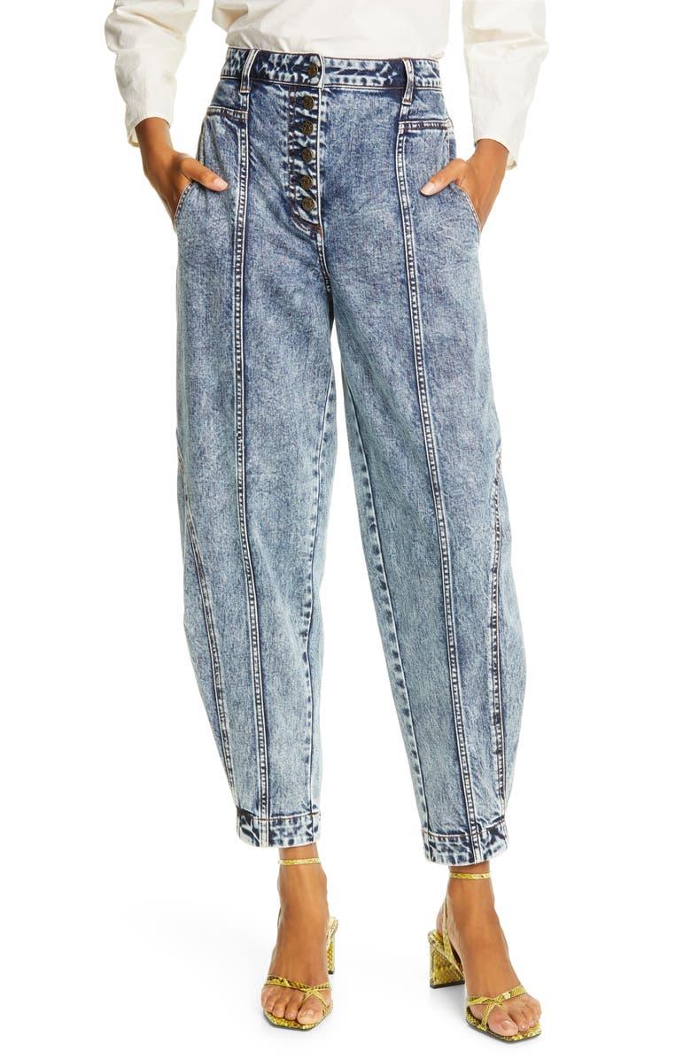 ULLA JOHNSON Brodie Taper Ankle Jeans, Main, color, MEDIUM ACID WASH