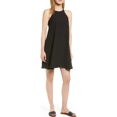 Gibson X Hi Sugarplum! Naples Swing Halter Dress, Black (Regular & Petite) (Nordstrom Exclusive)