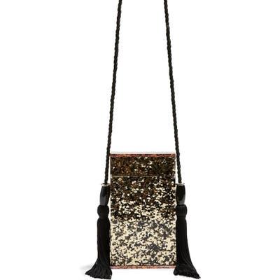 Topshop Como Glitter Tassel Shoulder Bag - Black