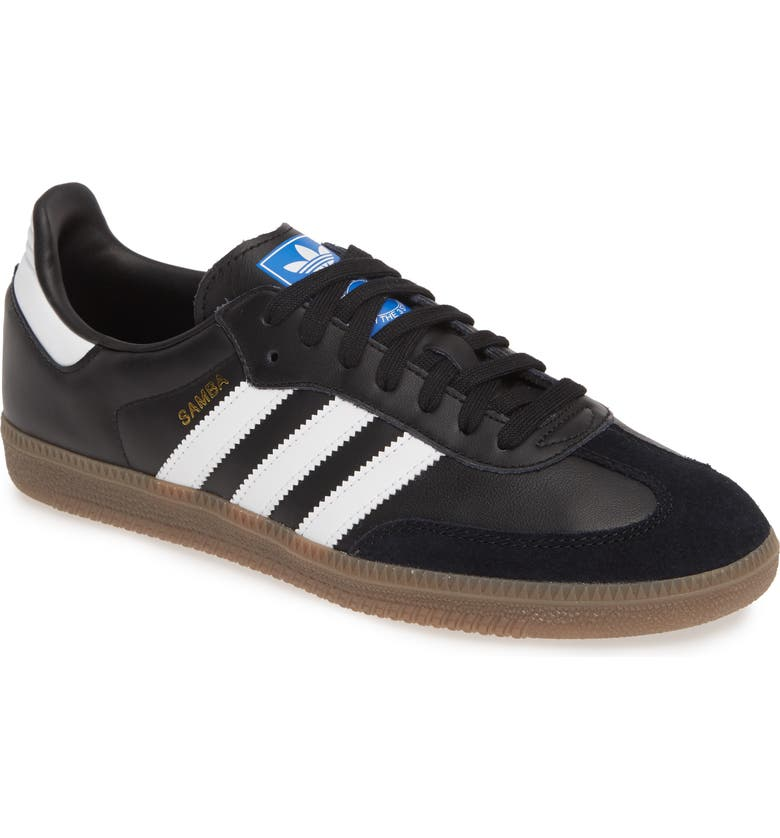 ADIDAS Samba OG Sneaker, Main, color, BLACK/ WHITE/ GUM