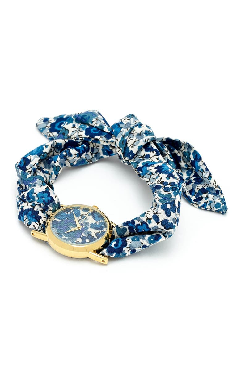 FLOWERS OF LIBERTY Floral Print Knot Watch, Main, color, 400