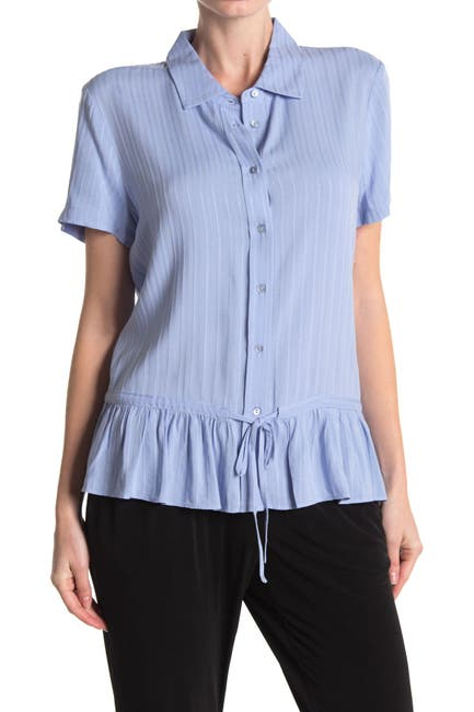 Image of Laundry By Shelli Segal Short Sleeve Peplum Hem Shirt