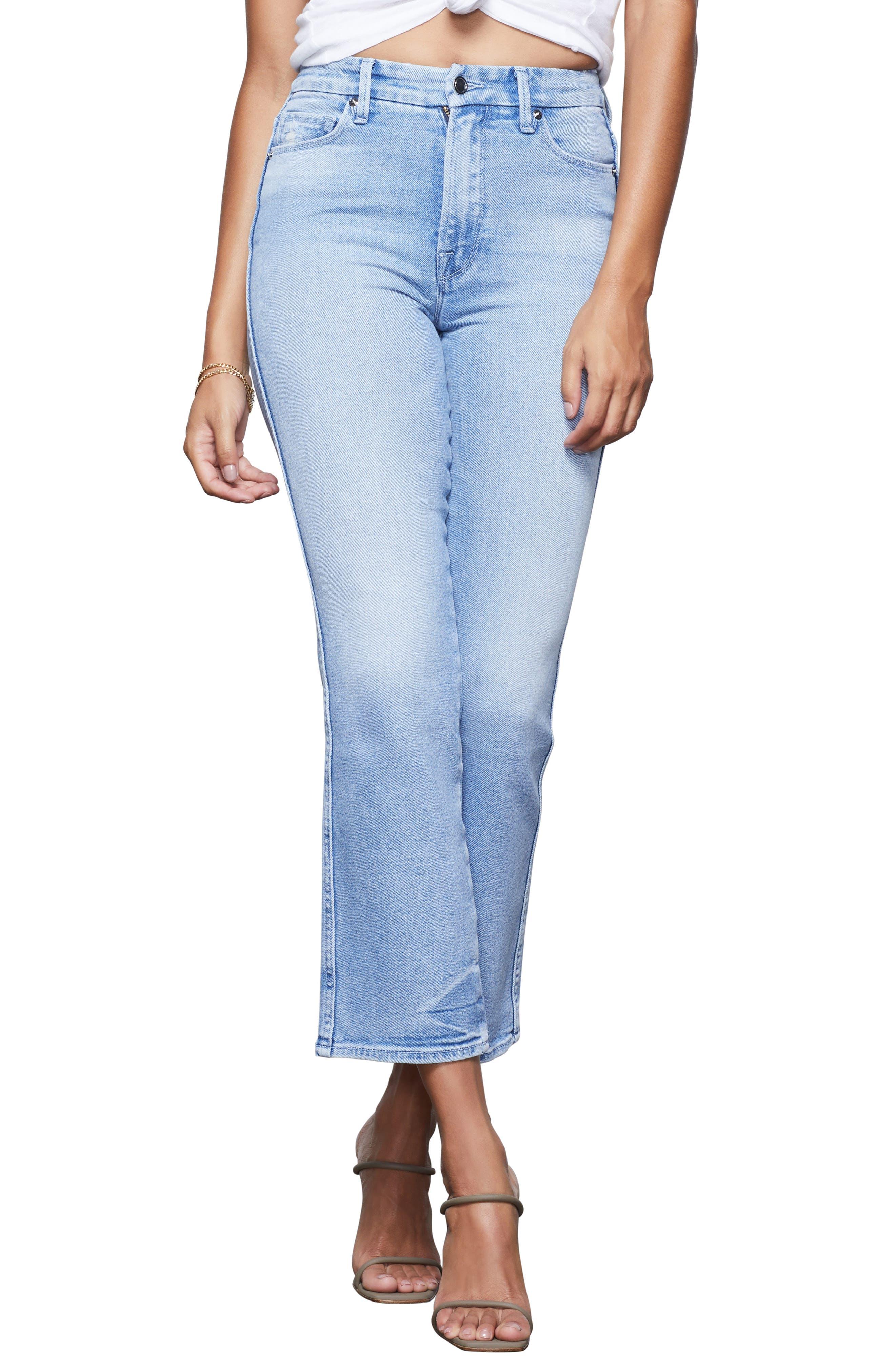 Image of Good American Good Curve High Waist Straight Leg Jeans