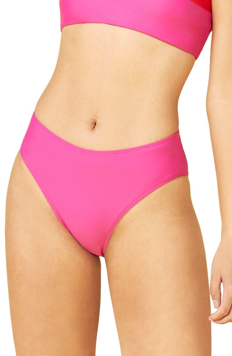 SUMMERSALT The High Leg Bikini Bottoms, Main, color, PINK