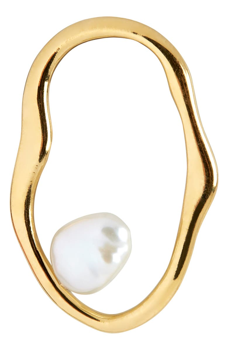 MARIA BLACK Nugget Pearl Earring, Main, color, GOLD/ PEARL