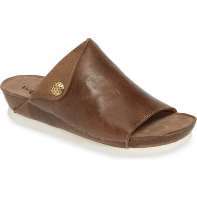 Bos. & Co. Pern Slide Sandal, Brown