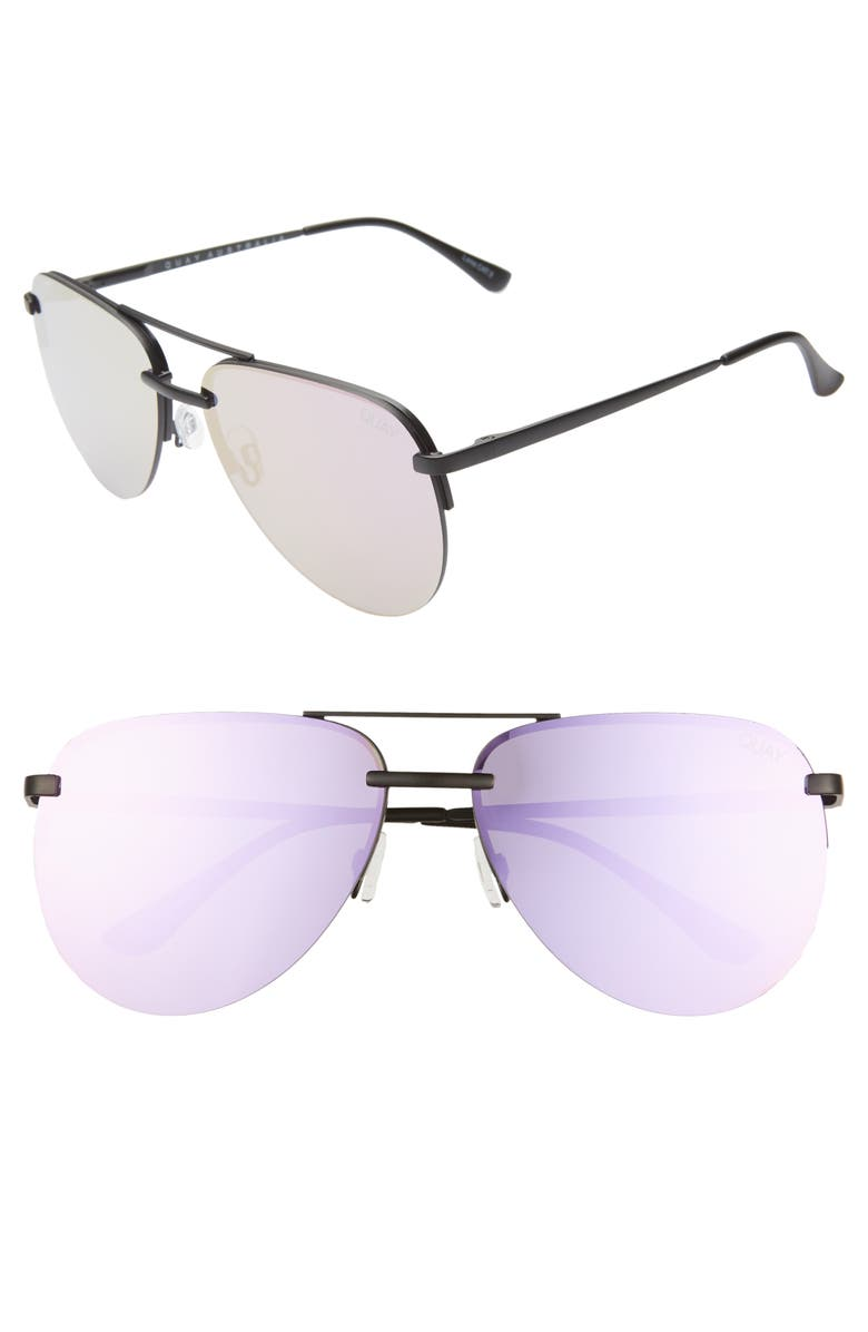 QUAY AUSTRALIA x JLO The Playa 54mm Aviator Sunglasses, Main, color, 007