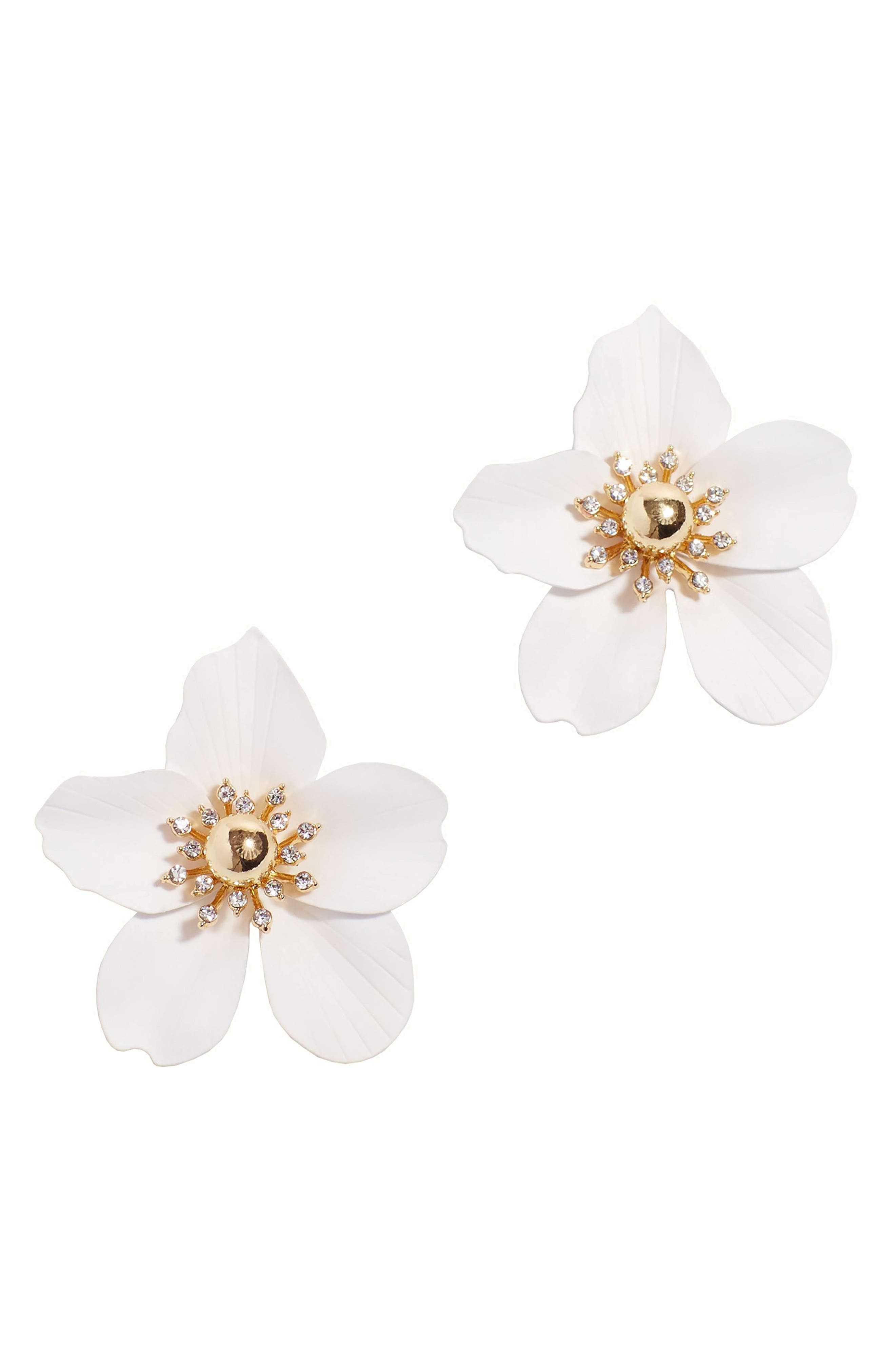 Oversize Orchid Earrings, Main, color, 100
