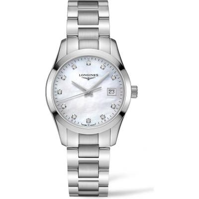 Longines Conquest Classic Diamond Bracelet Watch,