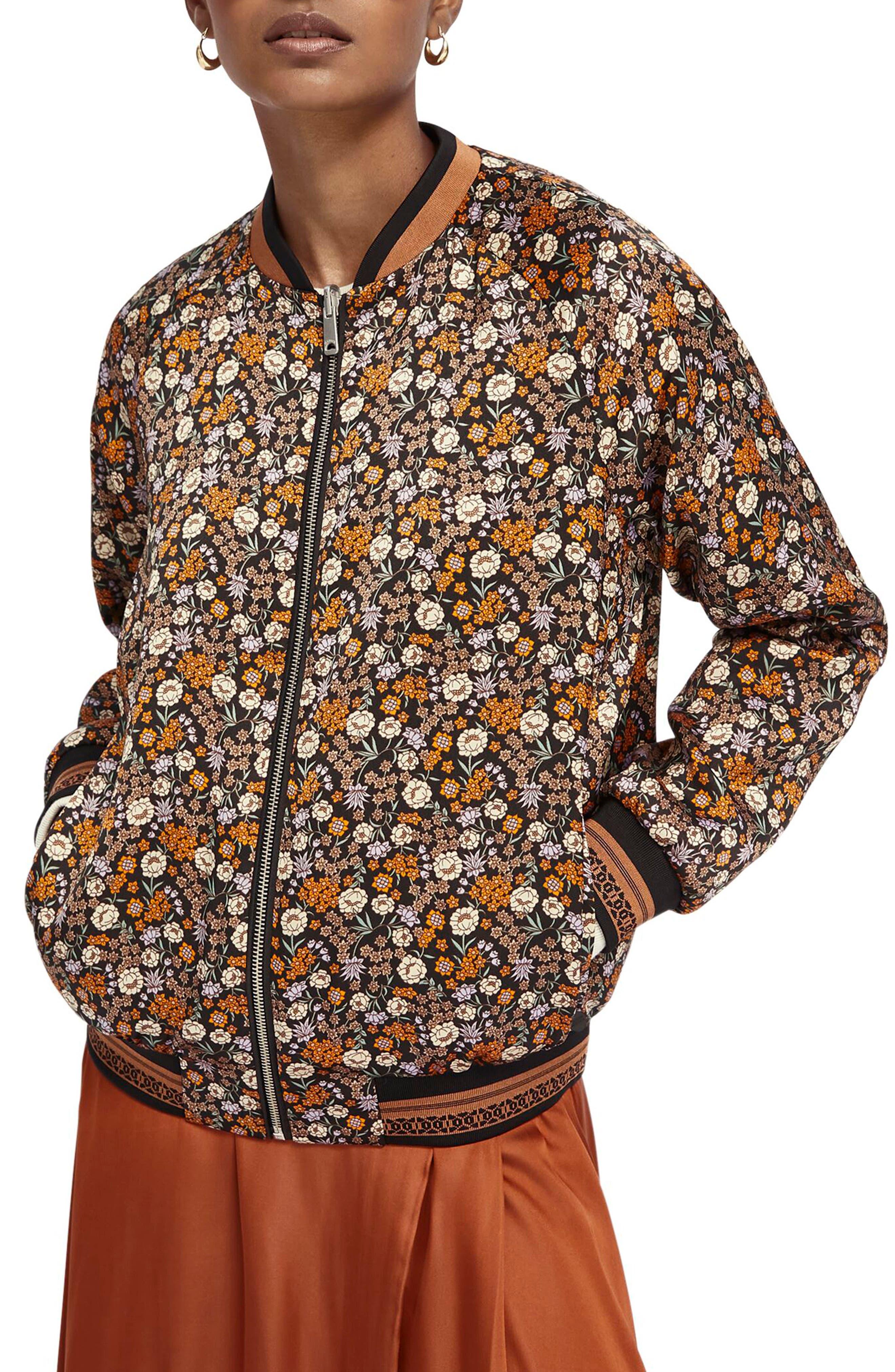 Vintage Coats & Jackets | Retro Coats and Jackets Womens Scotch  Soda Reversible Bomber Jacket $159.00 AT vintagedancer.com