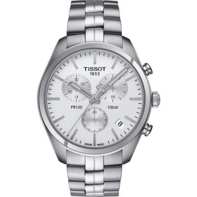 Tissot Pr100 Chronograph Bracelet Watch, 41Mm