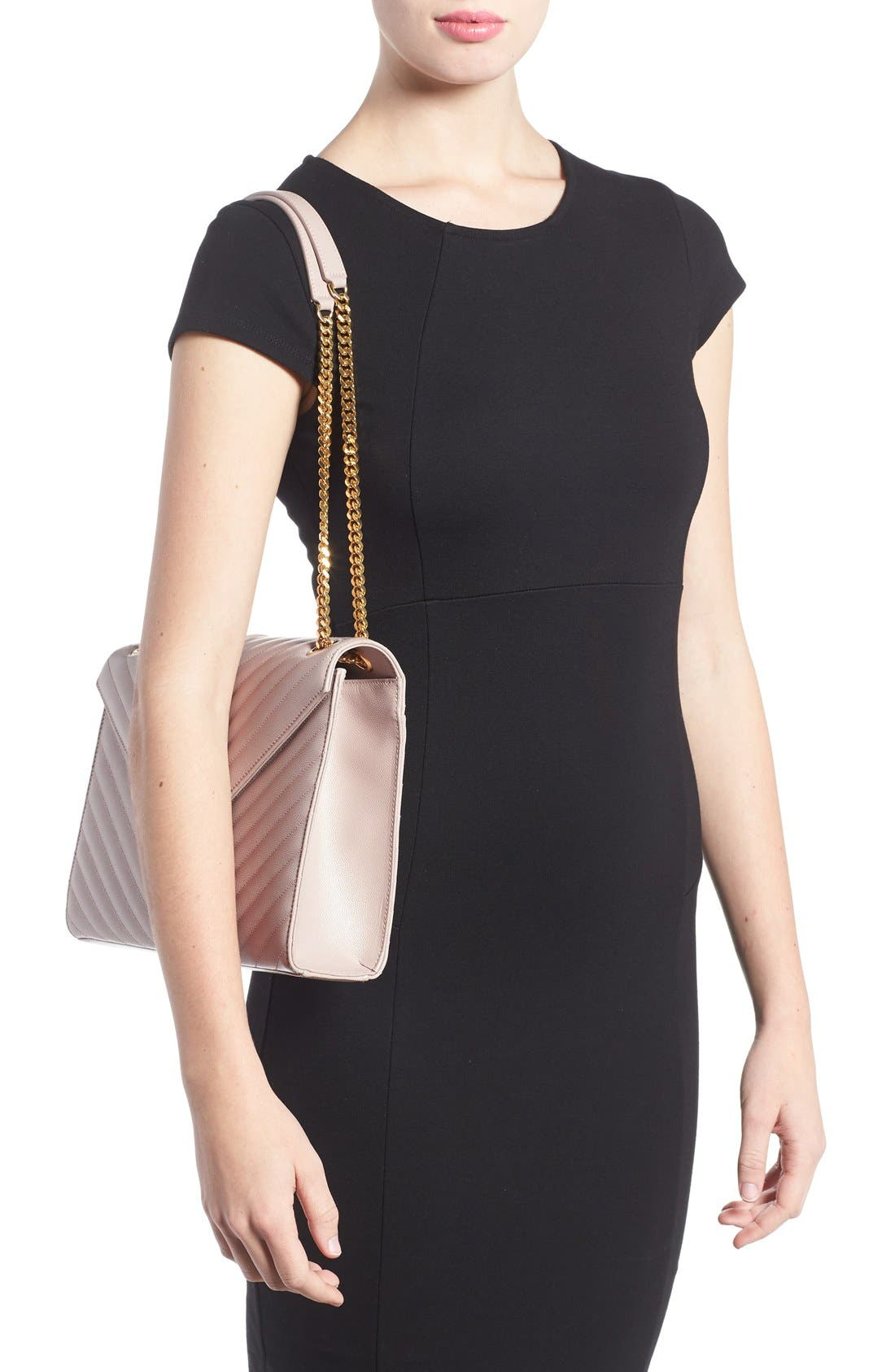,                             'Large Monogram' Grained Leather Shoulder Bag,                             Alternate thumbnail 50, color,                             657