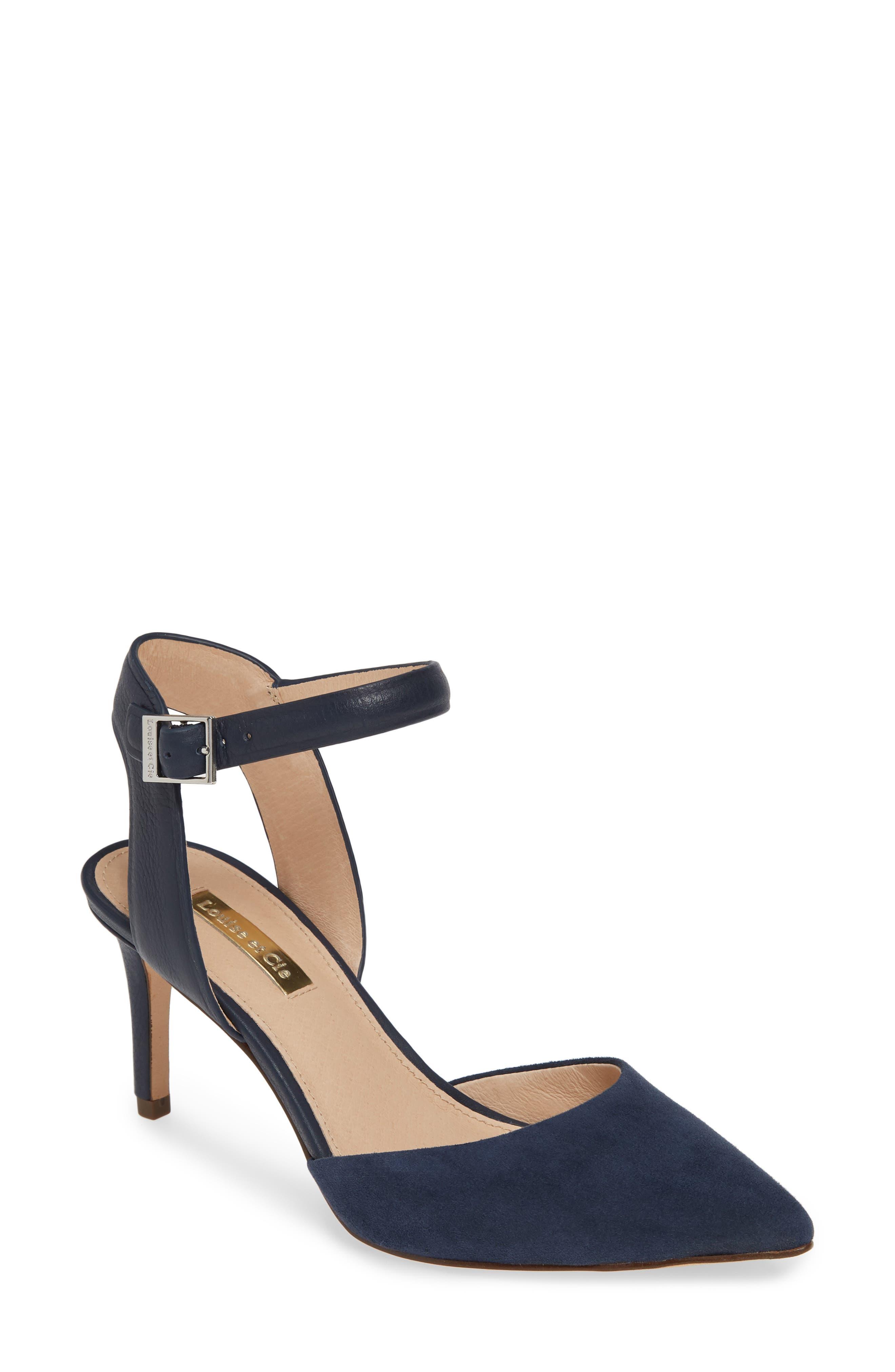 Louise Et Cie Kota Ankle Strap Pump, Blue