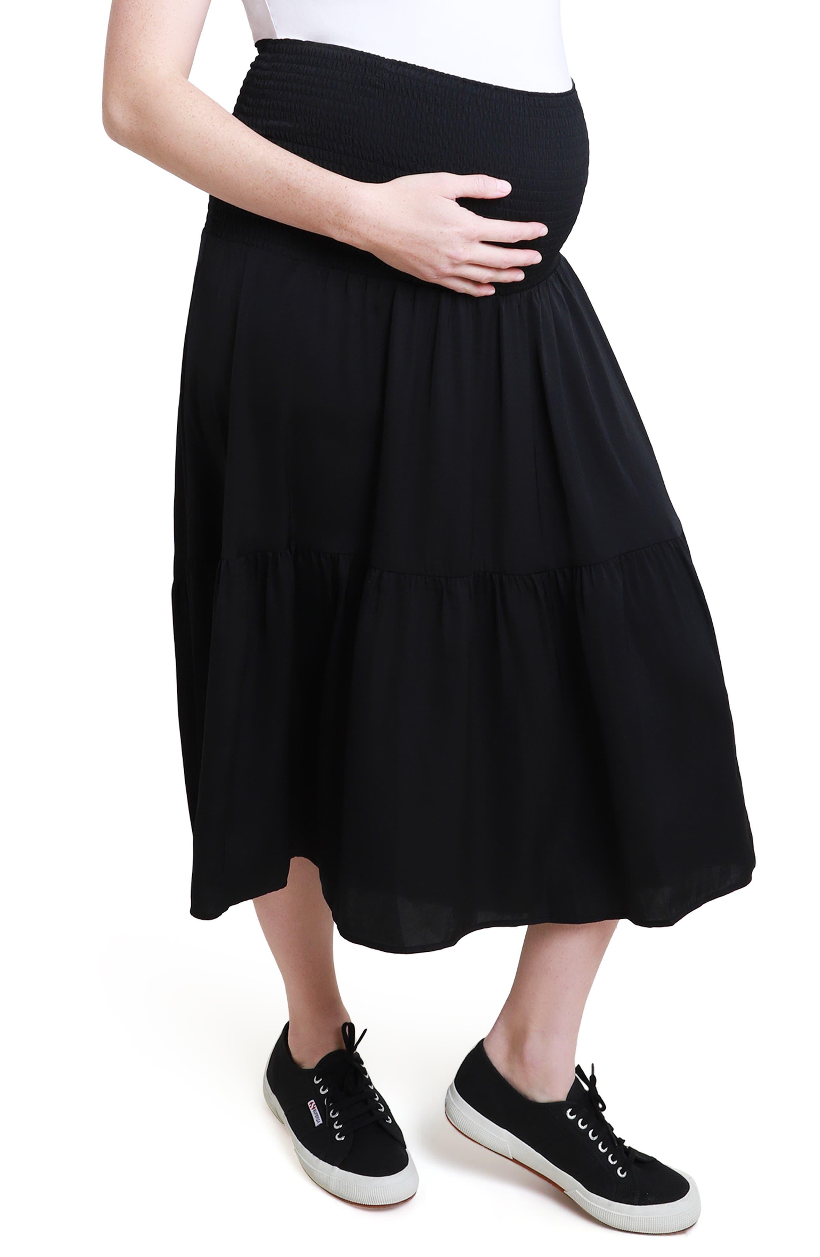 Women's Ingrid & Isabel Smocked 2-In-1 Maternity Skirt
