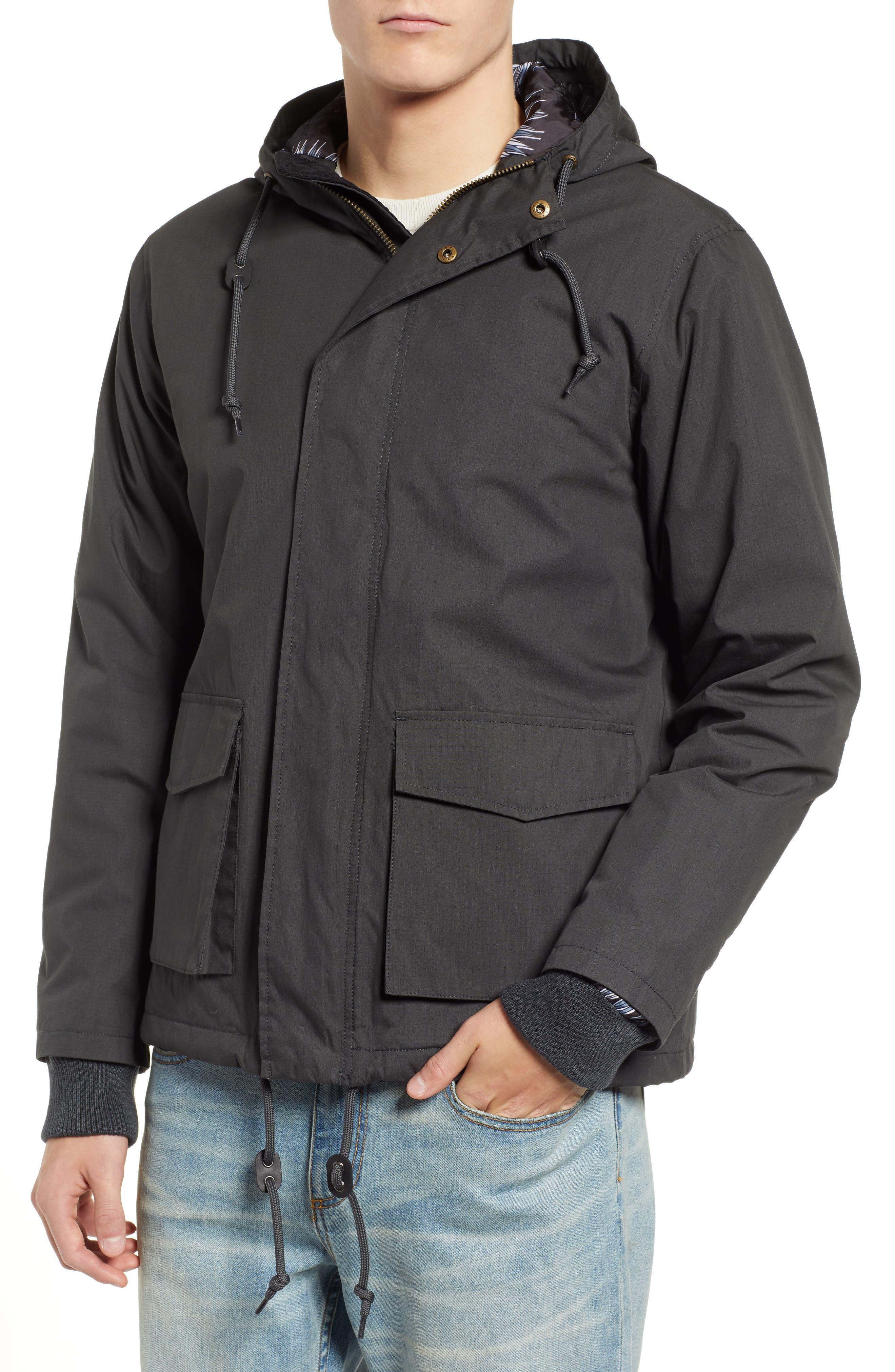 ,                             Ripstop Parka Jacket,                             Alternate thumbnail 4, color,                             PIRATE BLACK
