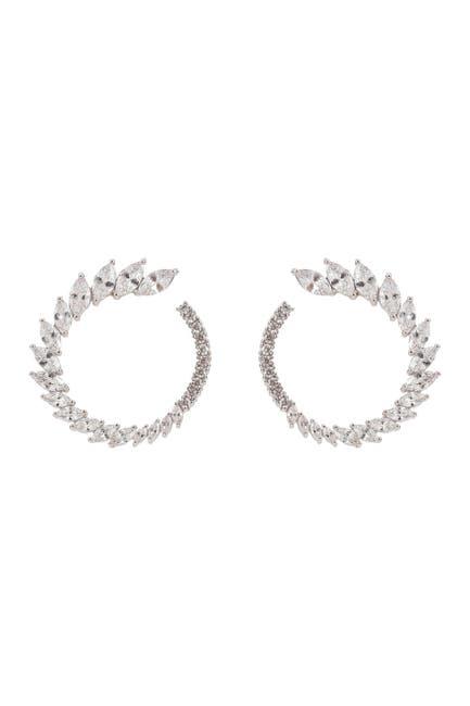 Image of Eye Candy Los Angeles Roman Cubic Zirconia 25mm Hoop Earrings