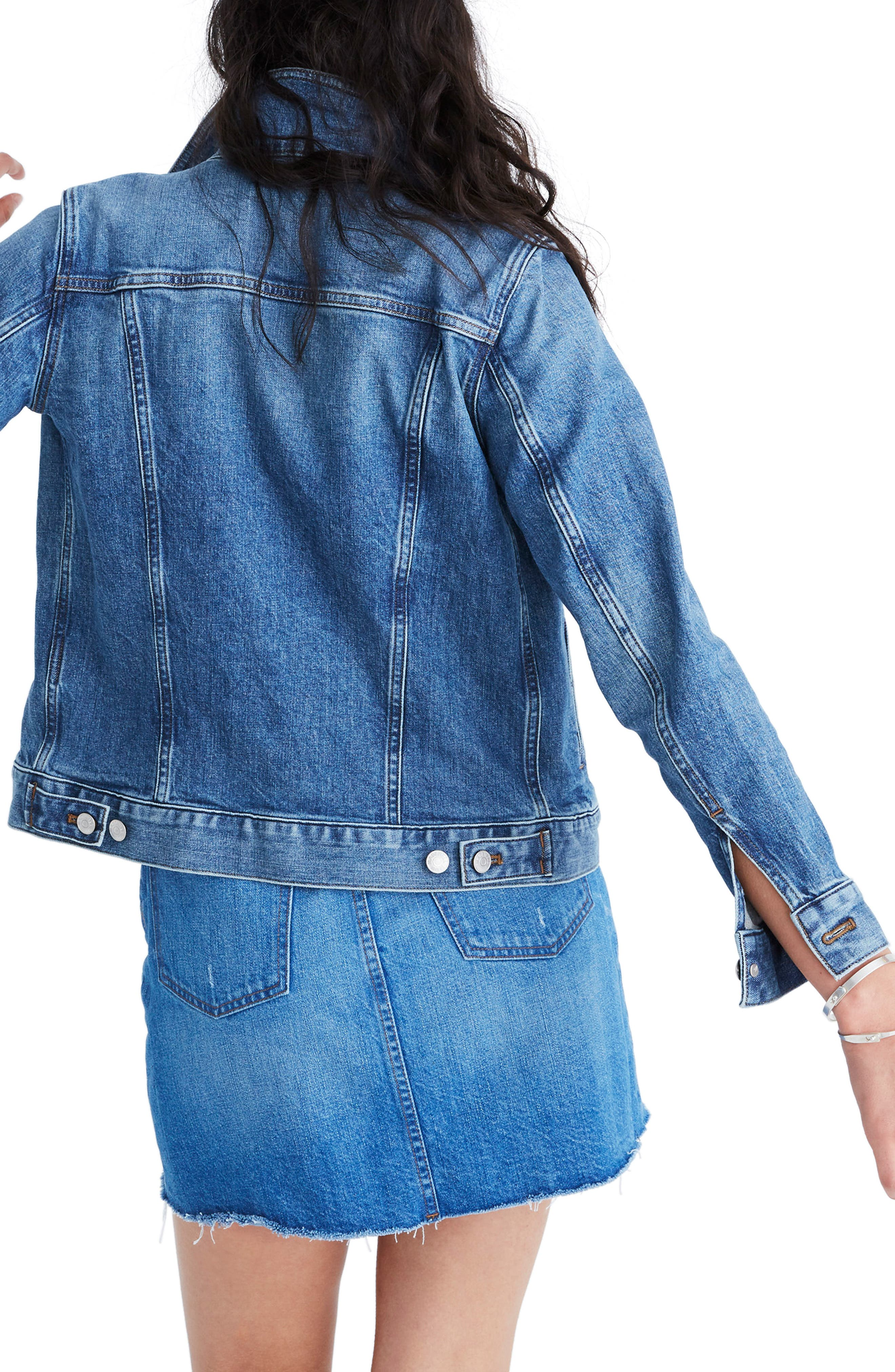 ,                             Eco Edition Stretch Denim Jacket,                             Alternate thumbnail 2, color,                             HOBSON WASH