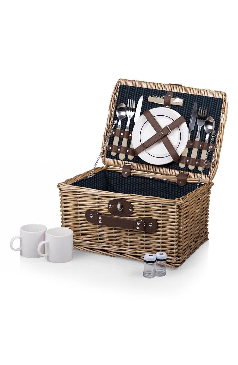 PICNIC TIME 'Catalina' Wicker Picnic Basket, Main, color, 400