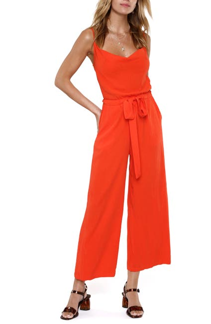 Image of Heartloom Mabel Belted Wide Leg Jumpsuit