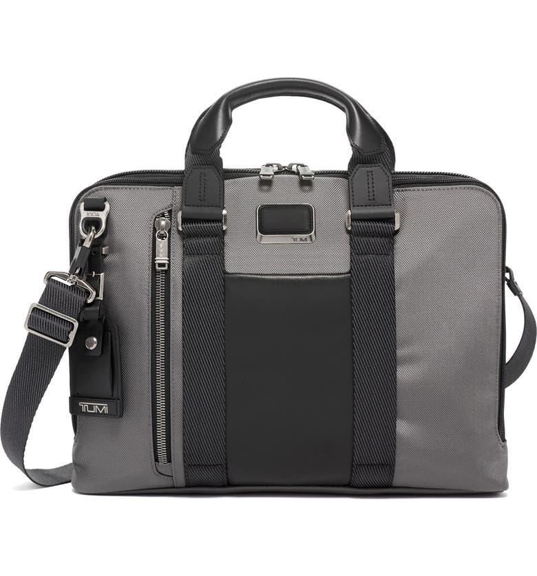 TUMI Alpha Bravo Aviano Slim Briefcase, Main, color, GREY