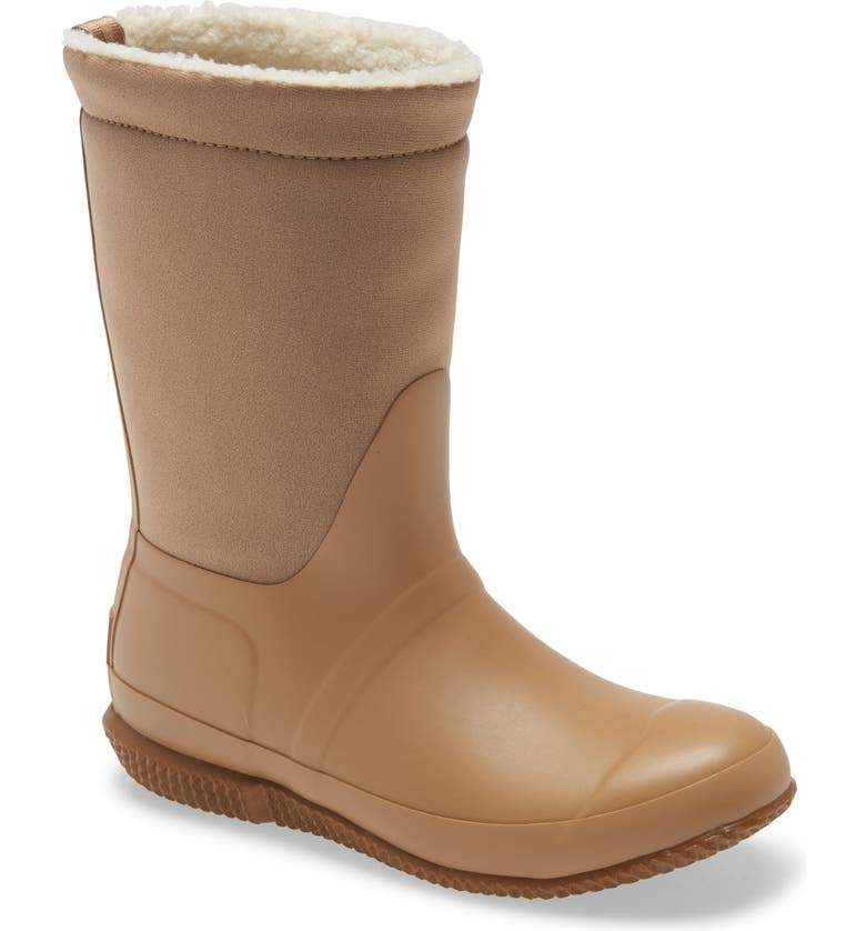 HUNTER Original Insulated Slipper Boot, Main, color, TAWNY