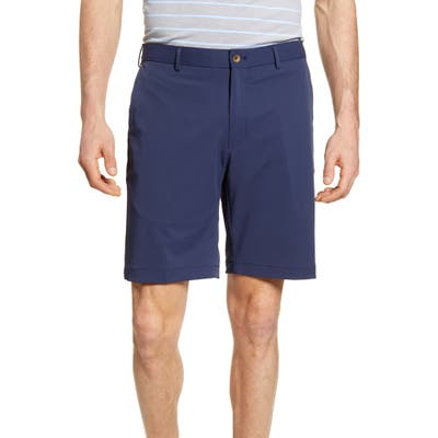 Peter Millar Stealth Stretch Twill Performance Shorts, Blue