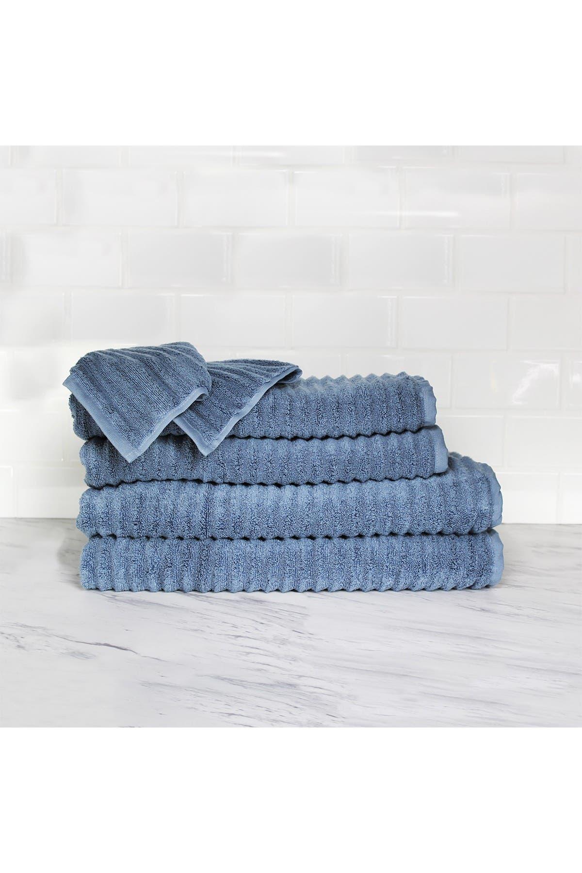 Image of Melange Home Zero Twist 6-Piece Towel Set - Multiple Colors Available