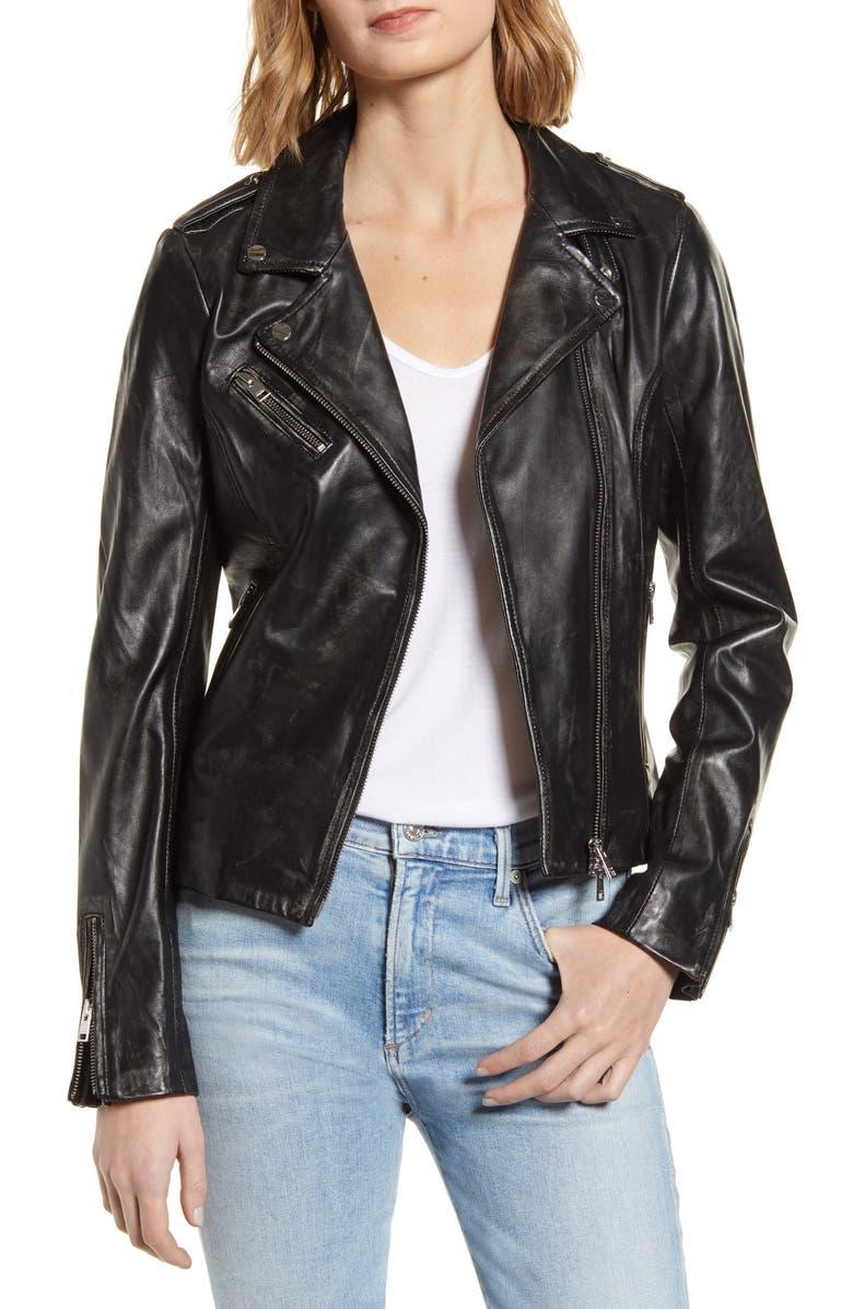 LAMARQUE Longer Moto Jacket, Main, color, 001