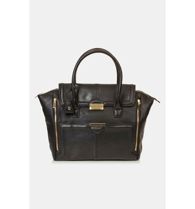 TOPSHOP Winged Tote, Main, color, 001