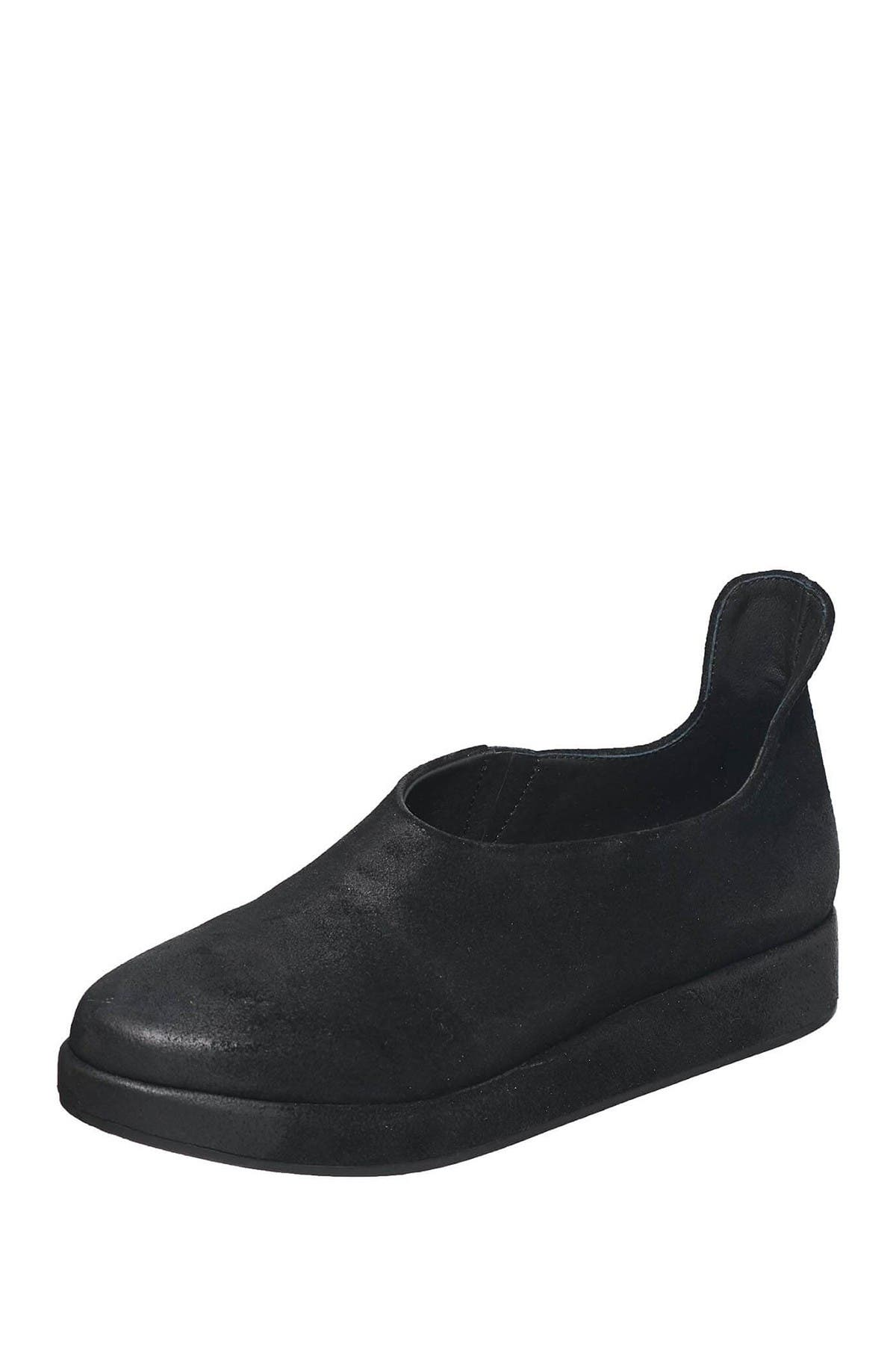 Image of Antelope Suede Slip-On Platform Flat