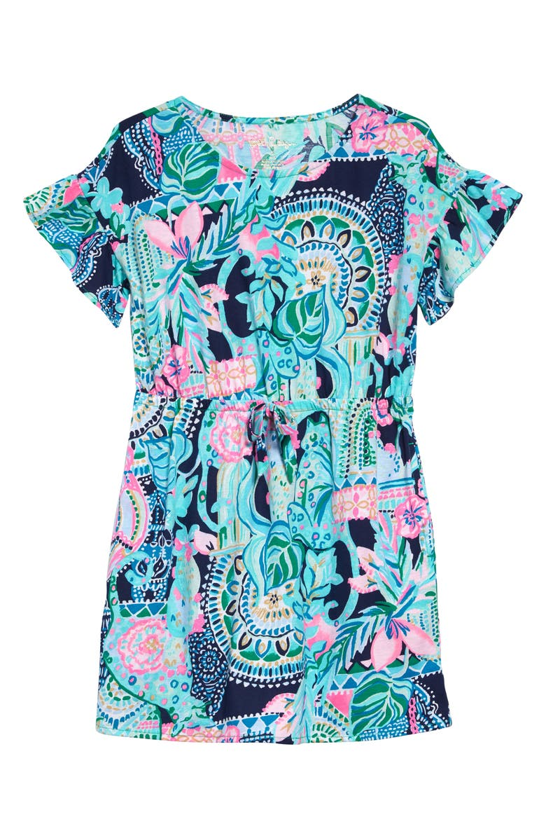 LILLY PULITZER<SUP>®</SUP> Stasia Flutter Sleeve Dress, Main, color, MULTI LOOKIN SHARP