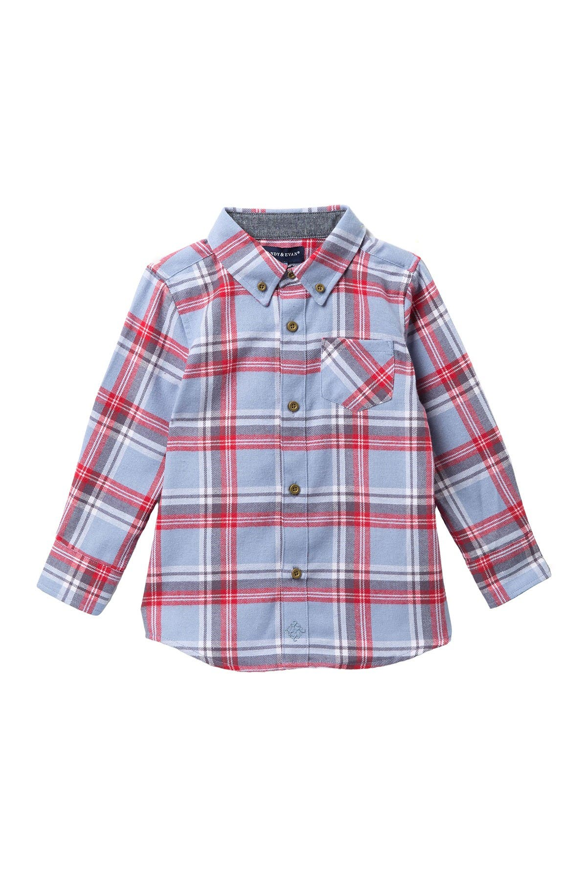 Image of Andy & Evan Plaid Flannel Button Up Shirt
