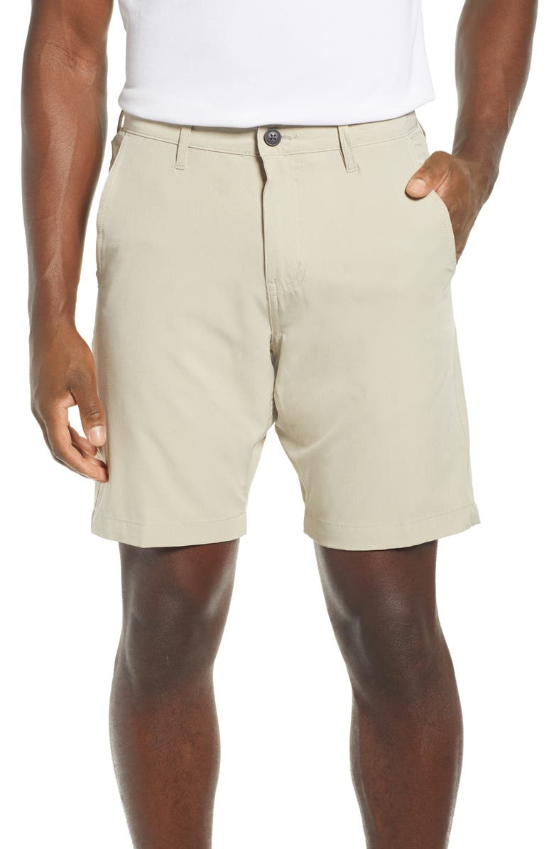 VINTAGE 1946 Heathered Stretch Hybrid Shorts, Main, color, LIGHT TAN
