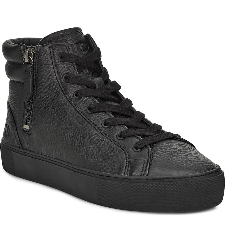 UGG<SUP>®</SUP> Olli High Top Sneaker, Main, color, BLACK LEATHER