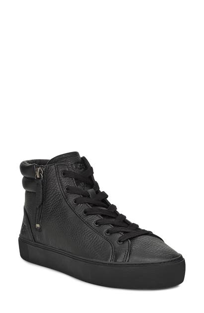 855ada2b465 Ugg Olli High Top Sneaker in Black Leather